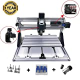 [Upgrade Version] DIY CNC Router Kits 3018 GRBL Control Wood Carving Milling Engraving Machine (Working Area 30x18x4.5cm, 3 Axis, 110V-240V) (Tamaño: upgrade 3018 cnc)