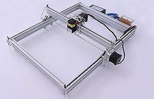 DIY CNC Laser Engraver Kits Wood Carving Engraving Cutting Machine Desktop Printer Logo Picture Marking, 40x50cm,2 Axis (5500MW) (Color: silver, Tamaño: 5500MW 40CM*50CM)
