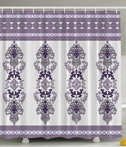 Damask decor classical design elegant decorations for bathroom hemline print digital print for Anna s linens bathroom accessories