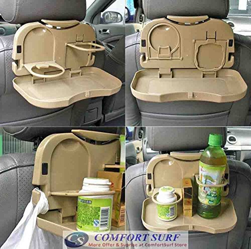 Multifunction Car Meal Plate & Cup Holder Tray / Car Backseat Food Tray For Cars