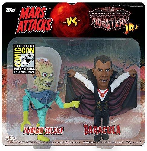 2014 SDCC Presidential Monsters jr vs. Mars Attacks - Martian Soldier vs. Baracula! 2-pack