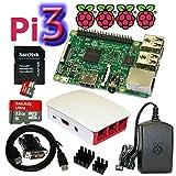 """Dieses Set beinhaltet:  - original Raspberry Pi 3 Model B (1,2 GHz quad core CPU, 1 GB RAM, WLAN und Bluetooth onboard) """"made in UK""""  - offizielles Raspberry Pi 3 Gehäuse (rot / weiß)  - schnelle SanDisk Ultra 32 GB Class 10 Speicherkarte der neusten..."""