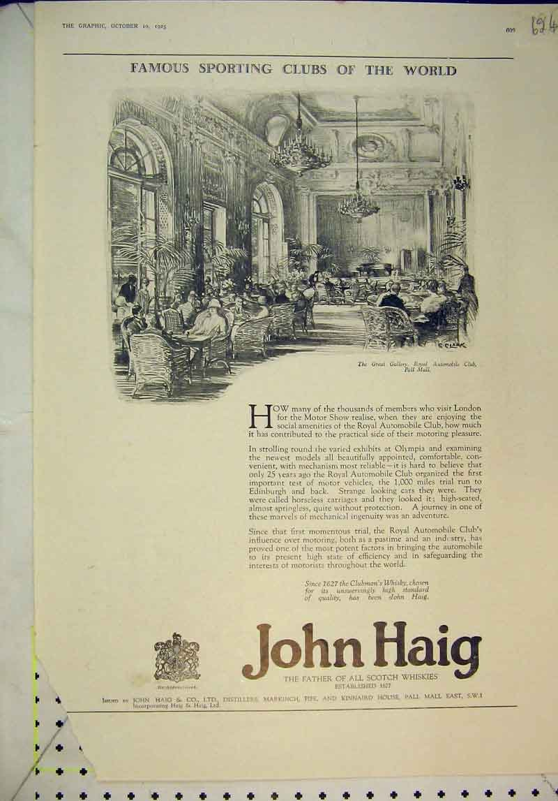 1925 John Haig Scotch Whiskies  Advert