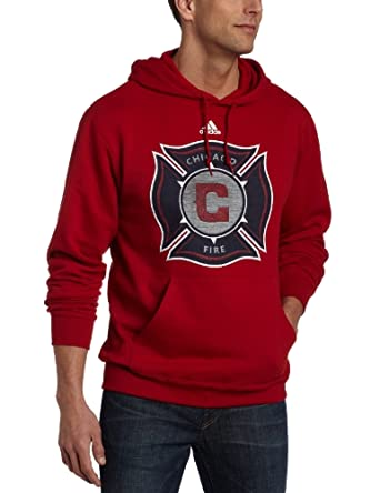 MLS Chicago Fire Primary Logo Hoodie by adidas