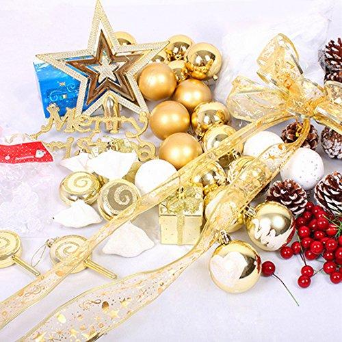 CreaTion® 155 Kit Decorazione albero di Natale Pz tra cui quasi Ornamenti per le vacanze di Natale Alberi di nozze Feste Decorazioni dell'albero