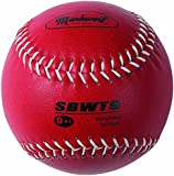 Markwort Weighted 12-Inch Softball-Leather Cover, Red