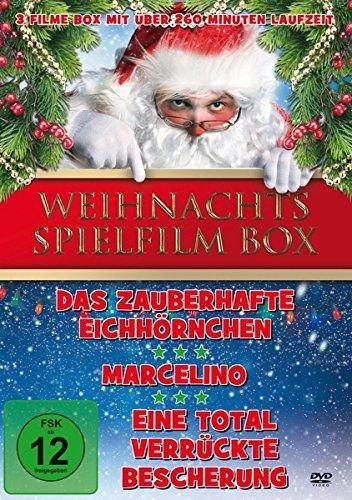 Weihnachten Spielfilm Box ( Inhalt: Das zauberhafte Eichhörnchen - Marcelino - Eine total verrückte Bescherung )