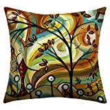 DENY Designs Madart Inc. Fall Colors Outdoor Throw Pillow, 16 by 16-Inch