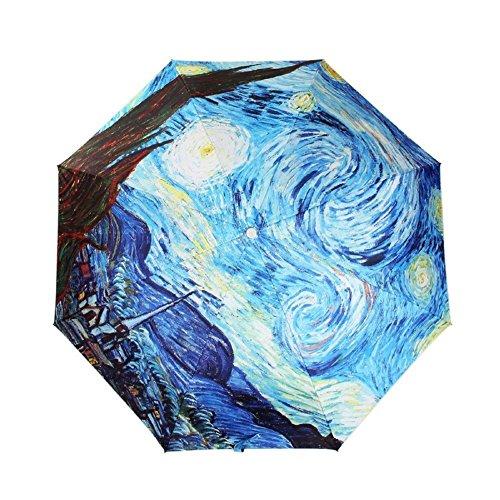 Sumdreams Star Starry Night Auto Stick Folding Sun Rain Umbrella Anti-UV Protection (Starry Night Sun Shade compare prices)
