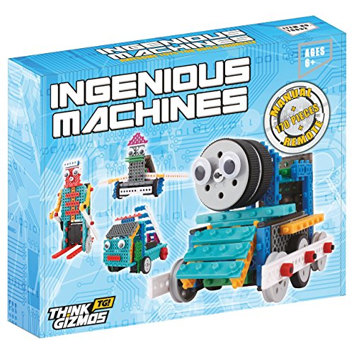 Building-Set-For-Kids-Ingenious-Machines-Remote-Control-Toy-Building-Kit-TG632-Awesome-Fun-Robot-Kit-Construction-Toy-by-ThinkGizmos--All-batteries-included