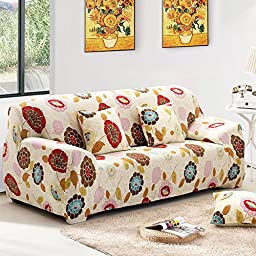 lt-select Sofa Covers, 1-Piece Polyester Spandex Fabric Stretch Slipcover for Living Room