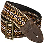 """Levy's Leathers Guitar Strap, M8HTV-20, 2"""" jacquard weave guitar strap with vintage Hootenanny design"""