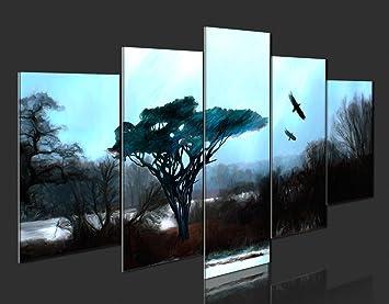 impression sur toile 200x100 200x100 cm grand format 5 5 parties image sur toile. Black Bedroom Furniture Sets. Home Design Ideas