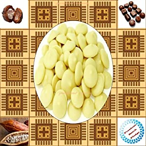 Certified Organic Edible Cacao Butter Melts (Delicious Chocolate Aroma & Smooth Texture) (10 LB)