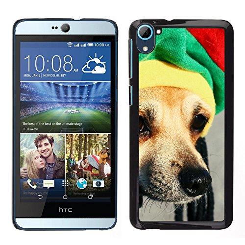 BearCase / Stark Shell-Kunststoff-Gehäuse-Schutzhülle /// HTC Desire D826 /// Rasta Mütze Dog Chihuahua Muzzle Schnauze