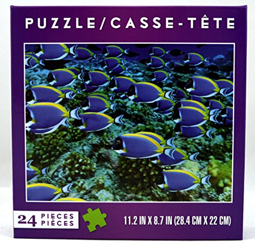 School of Colorful Tropical Fish- Jigsaw Puzzle 24 Pieces
