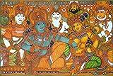 Mangala Kalyanam-Kerala Mural Art(Unframed Canvas Prints)- 60 CM x 40 CM