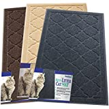 Easyology Premium Cat Litter Mat - XL Super Size - Best Extra Large Scatter Control Kitty Litter Mats for Cats Tracking Litter Out of Their Box - Soft on Paws- Elegant for Your Home- (Patent Pending)
