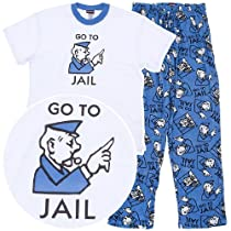 Monopoly Go to Jail Pajamas for Men