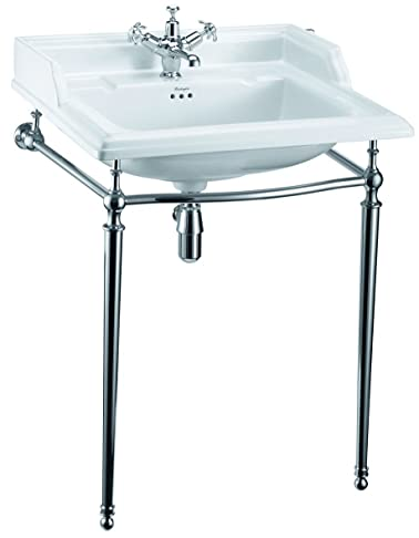 Burlington Classic 65 cm lavabo e lavello cromato supporto