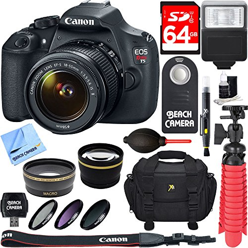 Buy Discount Canon EOS Rebel T5 18MP SLR Digital Camera and EF-S 18-55mm IS II Lens Kit Bundle with ...