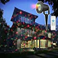 Christmas Laser Lights, Hosyo 8 Patterns in 1 Laser Christmas Lights Xmas Projector Lights Lawn Lamp Garden Lamp for Christmas Decoration Outdoor and Indoor Party with Remote Control Timer