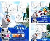 Brigamo FR10061 - Disney Eiskönigin Frozen Malset mit Wasserfarben, Wachsmalstiften, Pinsel und Vorlagen zum Ausmalen aus dem bekannten Film Die Eiskönigin thumbnail