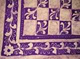 Patchwork Batik Tapestry-Bedspread-Beach-Picnic-Purple