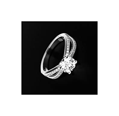 Silver Micro-Pave Ring 56, BERSANI W