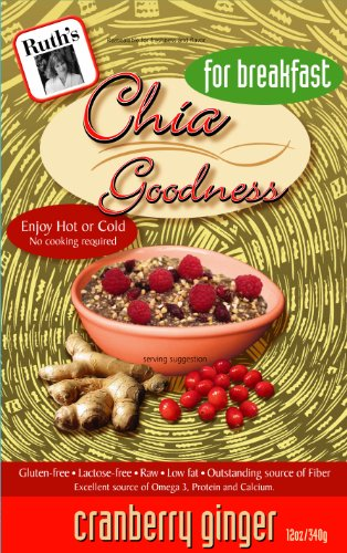 Ruth'S Hemp Foods Chia Goodness, Cranberry Ginger for Breakfast, 12-Ounce Pouch (Pack Of 12)