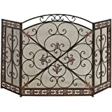 Deco 79 Metal Fire Screen, 52 by 31""