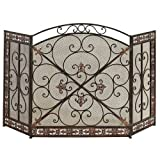 Fleur De Lis Iron Fireplace Screen