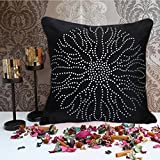 Cushion Casa Cushion Covers (Black) - B00NMC9JD2