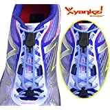 Yankz Surelace Elastic Shoe Laces, 2 point system to lock your laces (No Tie)