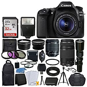 Canon EOS 80D DSLR Camera- Accessory Bundle