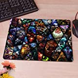 11.4''x 9.8'' Dota 2 Hero Anti-Slip Rectangle Computer Mouse Pad Customized Supported Rubber Pad