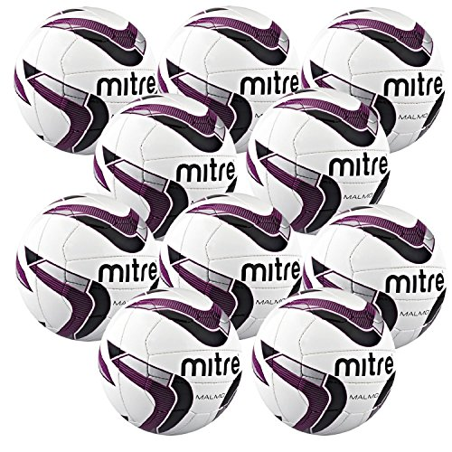 mitre-malmo-fussball-set-10-stueck-weiss-weiss-4