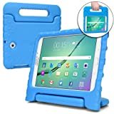 Samsung Galaxy Tab S2 9.7 case for kids [SHOCK PROOF KIDS TAB S2 CASE] COOPER DYNAMO Kidproof Child Tab S2 9.7 inch Cover for Boys, Toddlers   Kid Friendly Handle Stand, Light, Screen Protector (Blue) (Color: Blue, Tamaño: Samsung Galaxy Tab S2 9.7)