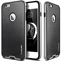 iPhone 6 Plus case, Caseology [Envoy Series] [Charcoal Black] Premium Leather Bumper Cover [Leather Bound] Apple iPhone 6 Plus case
