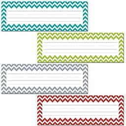 Creative Teaching Press Chevron Solids Name Plates (CS91601)
