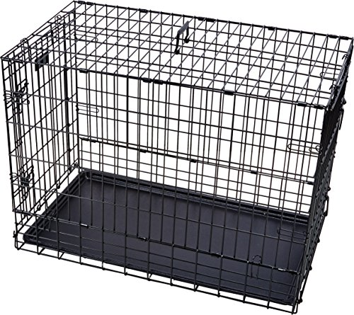 MidWest Side-by-Side Double Door SUV Crate with Plastic Pan, 36 Inches by 21 Inches by 26 Inches (Midwest Double Door Crate compare prices)