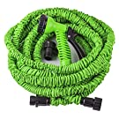 Gardenus(TM) Expandable Garden Hose- 50 Ft. With 7 Pattern Spray Nozzle-expands up to 3 Times in Length, Lightweight-will Never Kink or Tangle Best Quality