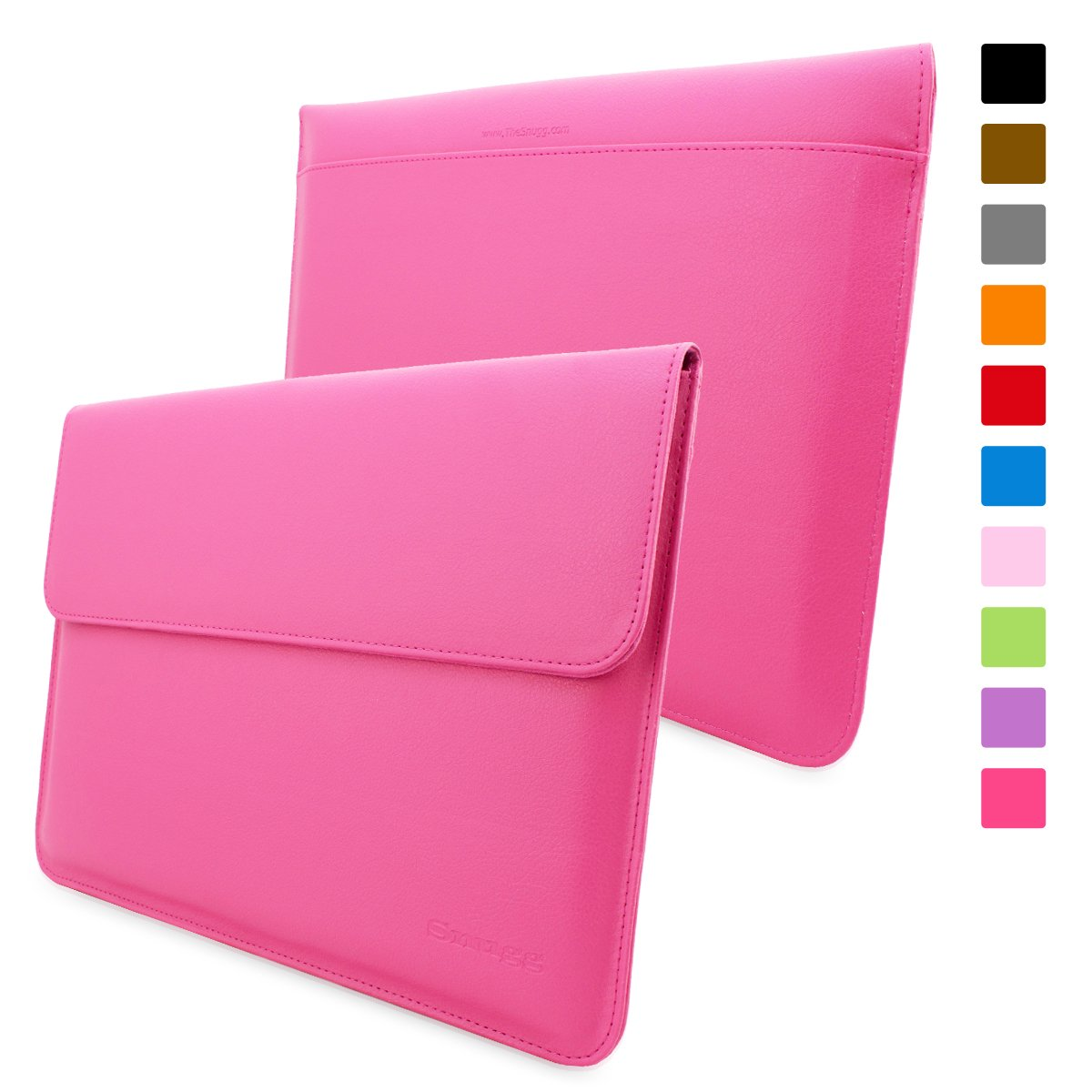 Snugg™ Macbook Air 11 Case   Leather Sleeve with Lifetime Guarantee (Hot Pink) for Apple Macbook Air 11Customer review and more information