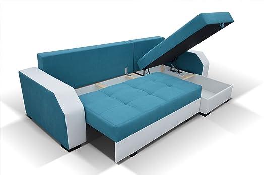 Divano da angolo Aris con letto funzione angolo diventa un letto divano