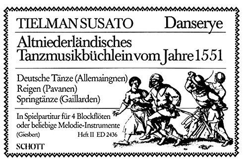 Altniederländisches Tanzbüchlein vom Jahre 1551 Band 2 – Danserye – 4 flûtes à bec (SSSA/AATB/ASTT/ATTB/AAAB/SSST o.a.) ou autres instruments mélodique; percussion ad lib. – Partition – ED 2436