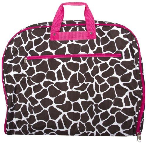 World Traveler 40 Inch Hanging Garment Bag, Fuchsia Trim Giraffe, One Size (Giraffe Garment Bag compare prices)