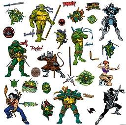 RoomMates RMK1393SCS Teenage Mutant Ninja Turtles Peel & Stick Wall Decals