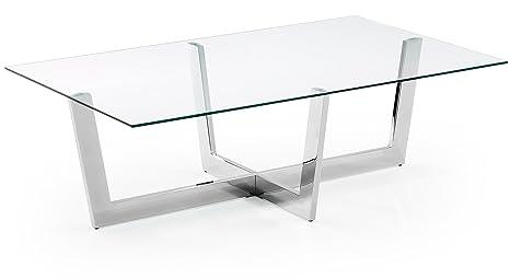 Mesa de Centro Cromada Cristal - Selección Cabana