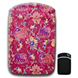 Indian Pink Elephants For Amazon Kindle Fire & Kindle 3G Keyboard Soft Protection Neoprene Case Cover Sleeve Bag With Pocket which is Ideal for Headphones, Data Cable etc