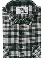Mens Work Shirts Brushed Cotton Lumberjack Flannel Long Sleeve Check Shirt FREE P&P